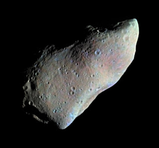 Asteroid Gaspra from Galileo in 1991
