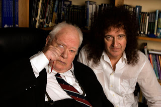 Brian with Sir Patrick Moore. Photo: BBC