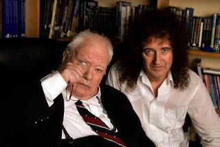 Sir Patrick with Brian May