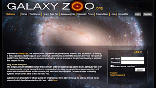 Galaxy Zoo home page