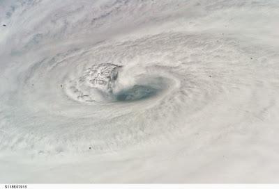 Hurricane Dean from shuttle