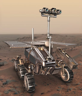 An ESA artist's impression of the ExoMars rover