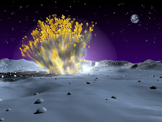 Artist's impression of an impact