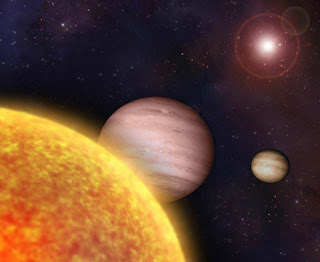 Artist's impression of planets' close approach