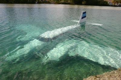 avión en remojo