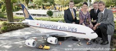 Airbus A380 construido con bloques de lego
