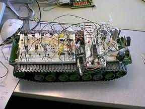 The Autonomous Tank using AT90S8515