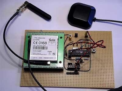 Interfacing microcontroller avr to GPS mobile phone