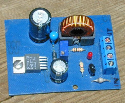 Electronic Project Circuit - Buck Mode Switching Regulator