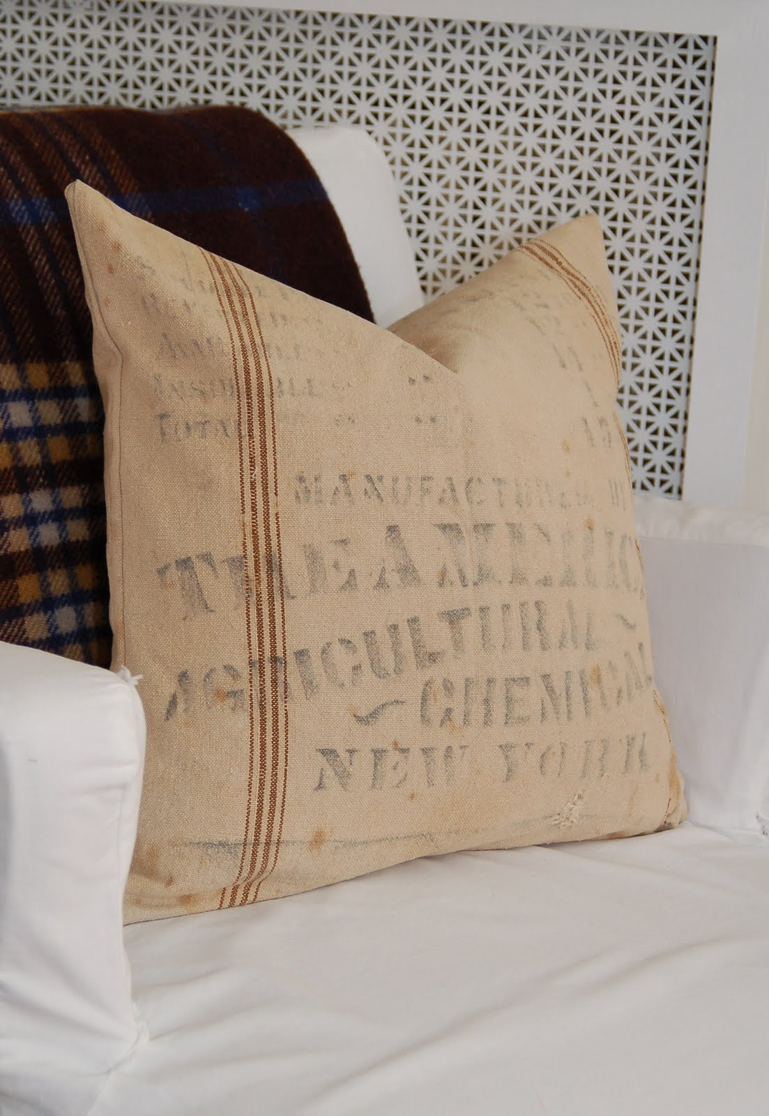 Feed Sack Pillows - Miss Mustard Seed