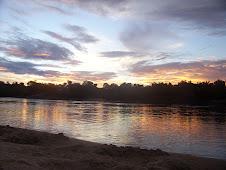 Atardecer en el río Vaupés