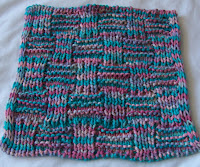 Alpine Knit Scarf with Double Rose Leaf Center Pattern and