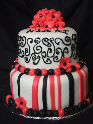 Jesicakes Pink And Black Birthday Cake