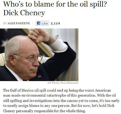 Have won dick chaney oil phrase