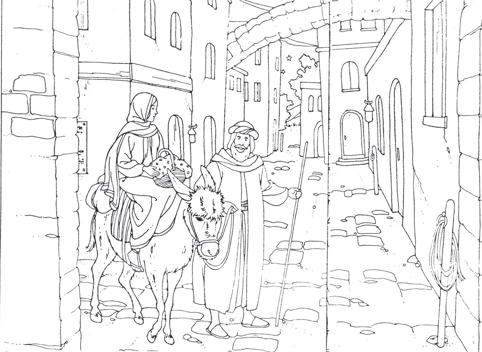 Images About Coloring Bible Nt Gospels Christmas Through The Flight To Egypt On Pinterest