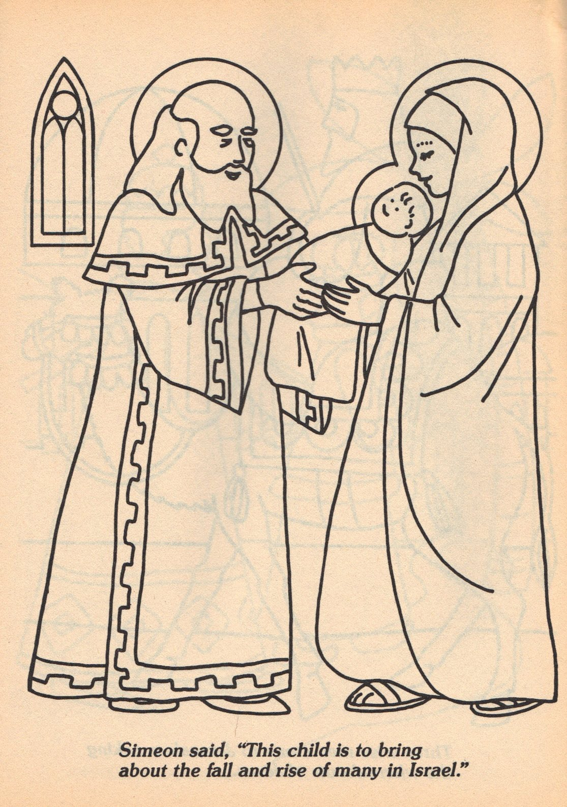 bible coloring pages simeon - photo#2