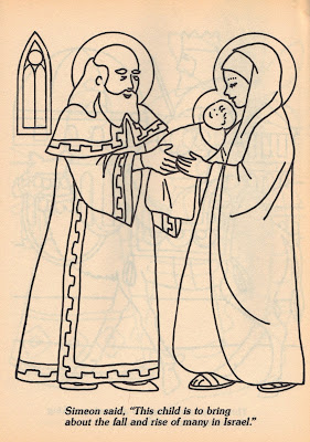 anna and simeon coloring page - creative kidstuff day 10 anna and simeon at the temple