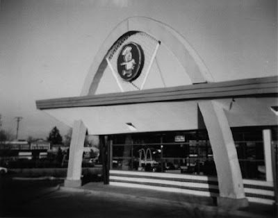 photograph of a retro McDonald's