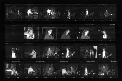 Black and white contact sheet of Wednesday Week from 1986