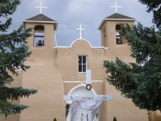 photograph of the San Francisco de Asis Church near Taos, New Mexico
