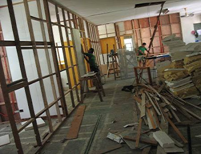 Alingal Hall construction, part 1