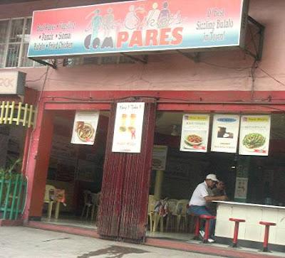 pares-pares restaurant