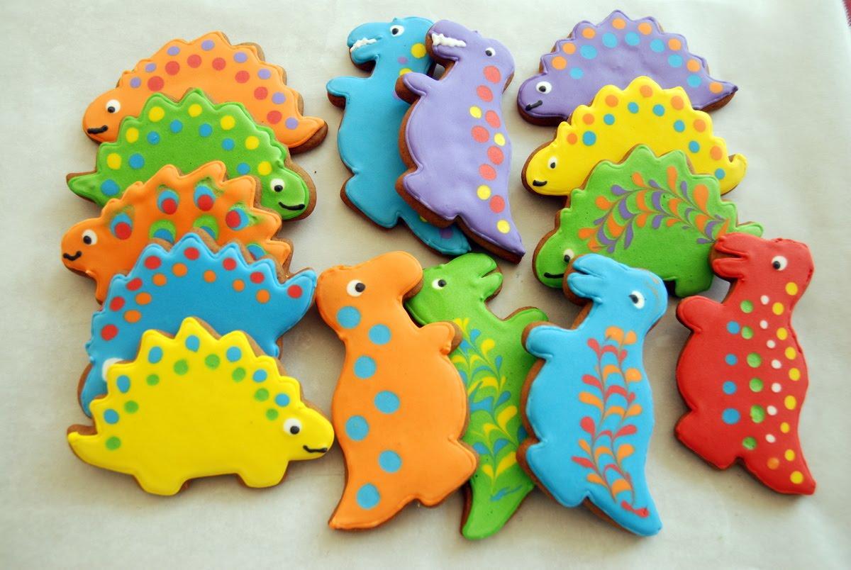 scrambled henfruit dinosaur cookies