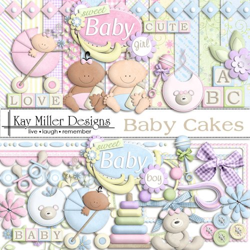 """Большой детский скрап-набор """"Baby Cakes"""""""