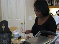 Prepping the panini