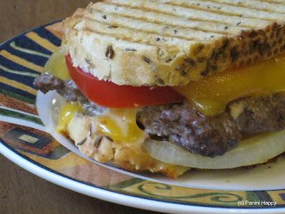 Cheeseburger Patty Melt Panini