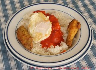 La cocina de cada d a 191 men arroz blanco con huevo - Arroz blanco con bacalao ...