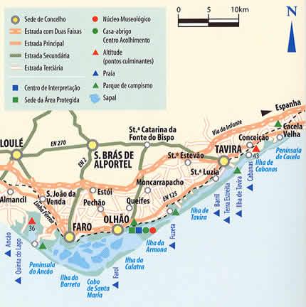 mapa da ria formosa RIA FORMOSA: O que é a Ria Formosa? mapa da ria formosa