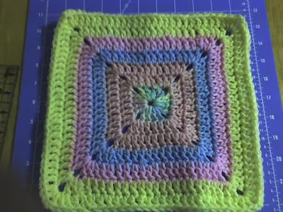 Debs Crafts The Never Ending Blanket Square Free Crochet Pattern