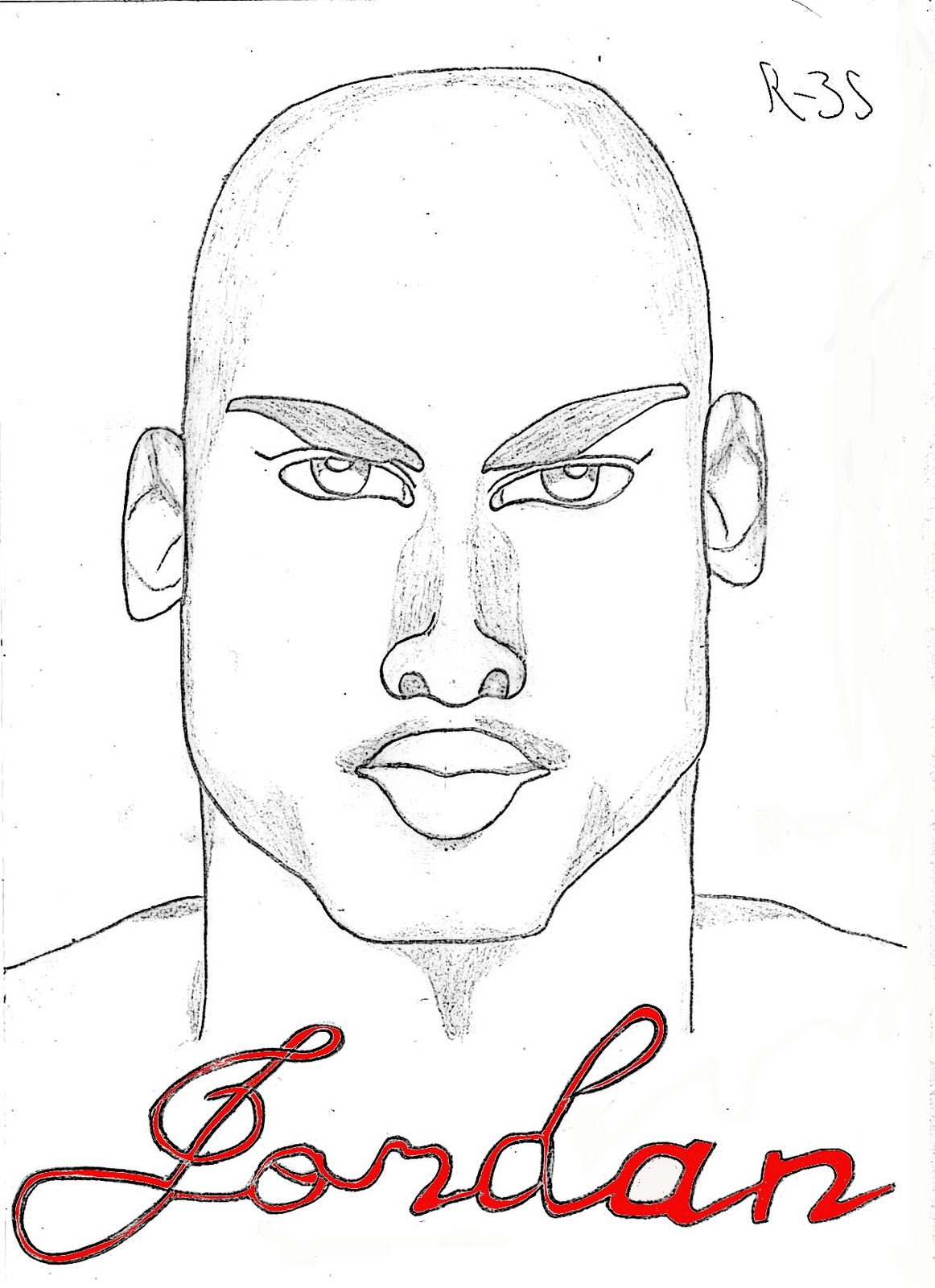 michael jordan coloring pages free - photo #38