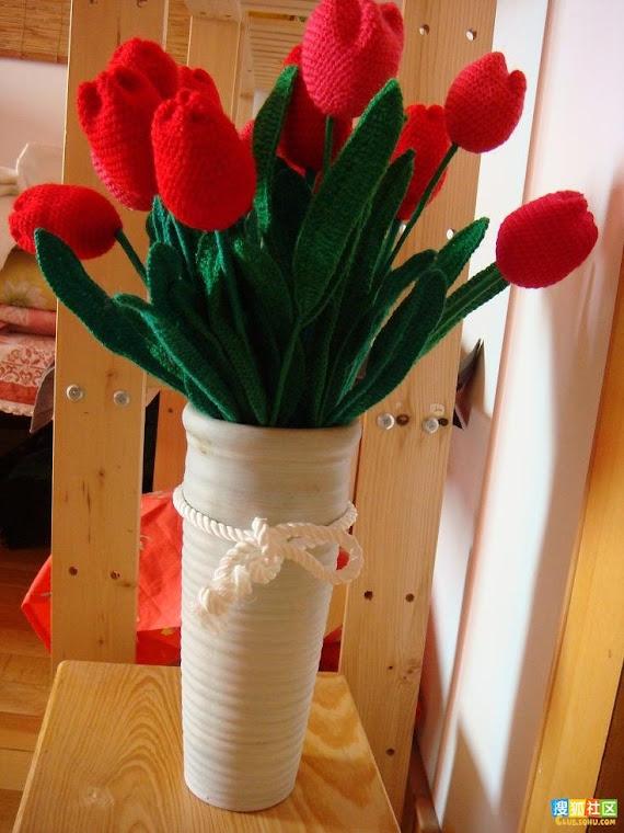 adoro tulipas, meus novos projetos.