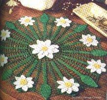 toalha de flores, brancas