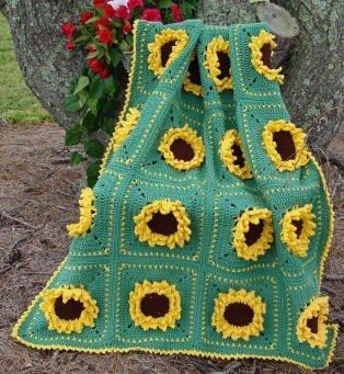 cobertor de girassol.