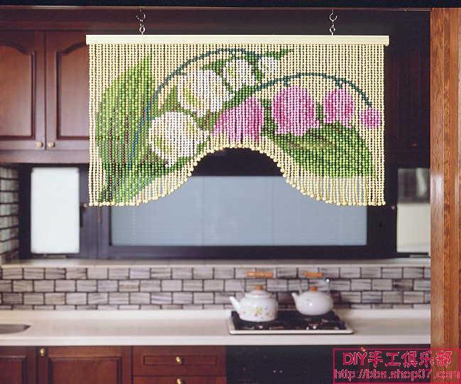 cortinas de missangas tulipa.