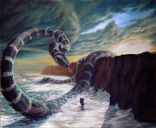 Serpiente Jormungand de Midgard