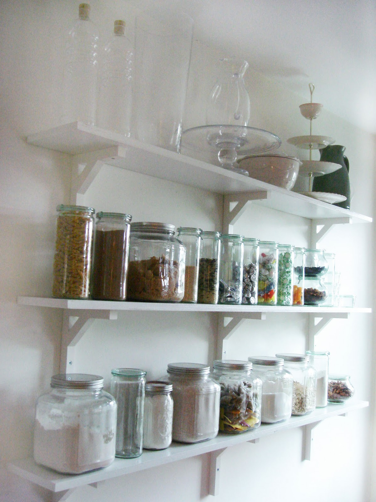 kitchen wall shelving units tops cabinets shanty2chic dining room floating shelves by myneutralnest linda harriett home improvements