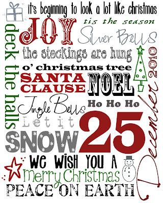 Free Christmas Printables To Use As Decor