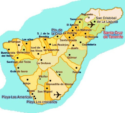 Viajesia Mapa De Tenerife Municipios
