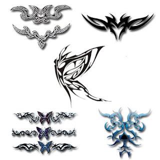 Tatouage papillon mod le de tatouage papillon - Tribal papillon ...