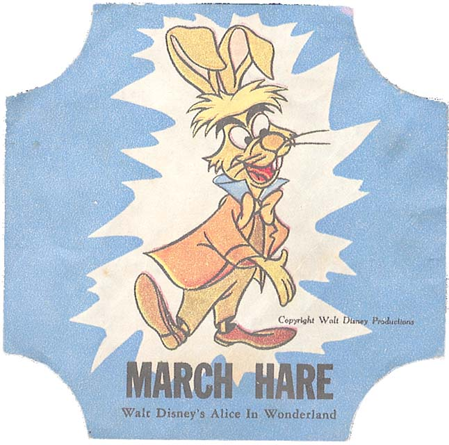 Disney March Hare: Vintage Disney Alice In Wonderland: NBC Bread End Seal