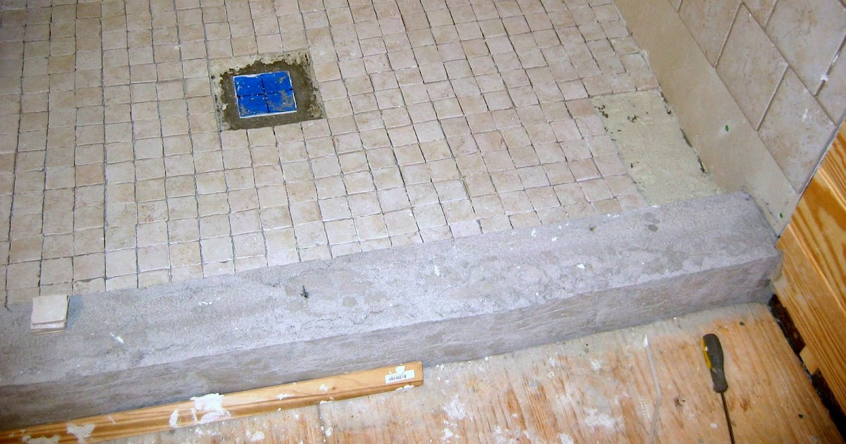 Butt Joints And Pocket Holes Tiling The Shower Floor