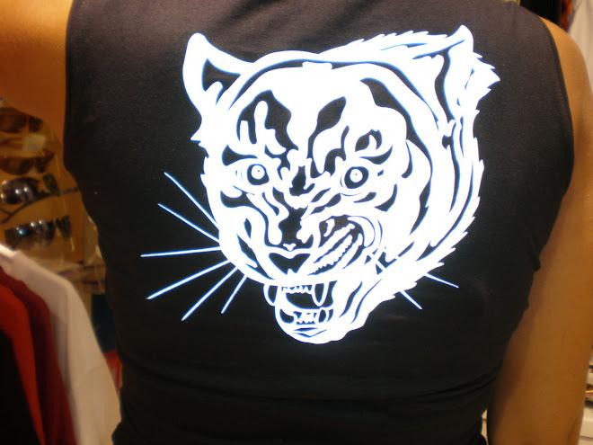 Tigre con vinilo reflectante