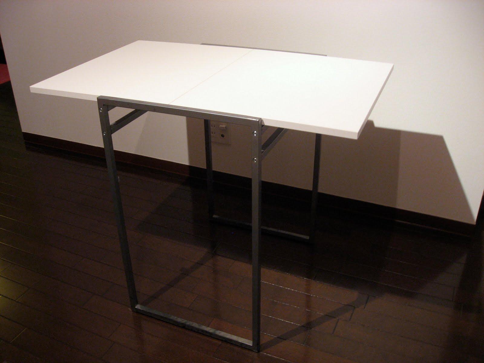 Harajuku Sayonara White Fold Down Leaf Table