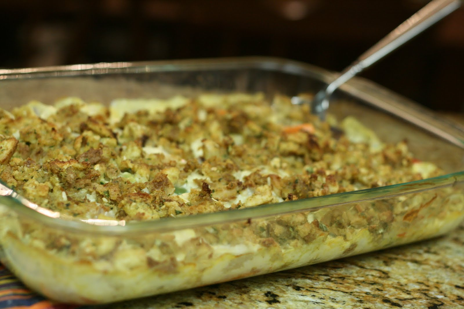 Let Me Plan Dinner Chicken Stuffing Casserole Sauteed Zucchini And Squash