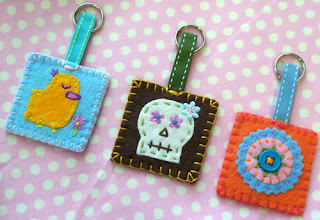 little thing: felt key rings :  indie diything key rings crafts