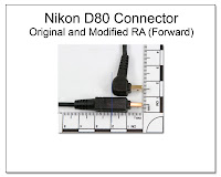 CP1061: Nikon D80 Connector - Original and Modified RA (Forward)